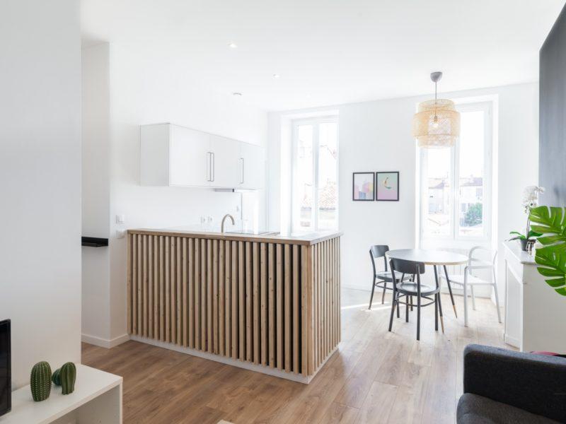 Novaclem - Salon 3 après travaux T2 Goudard - Investissement Marseille