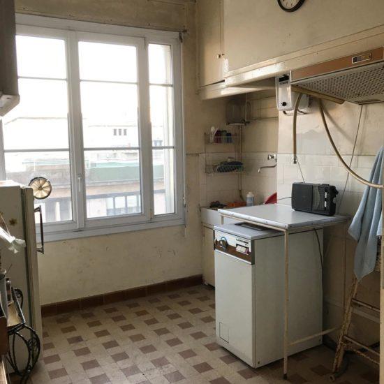 Novaclem -Cuisine avant travaux Coloc Monastère - Investissement Marseille