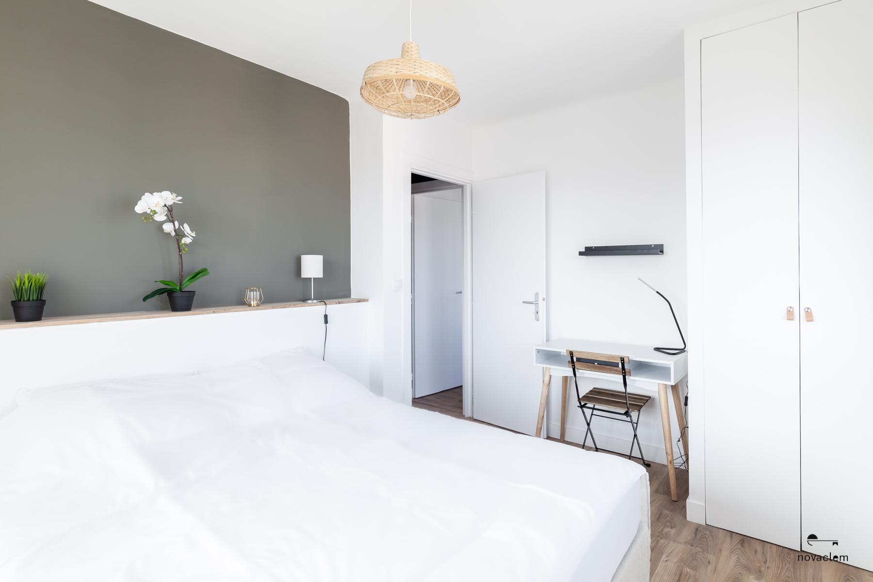 Novaclem -Chambre après travaux Coloc Galinat - Investissement Marseille