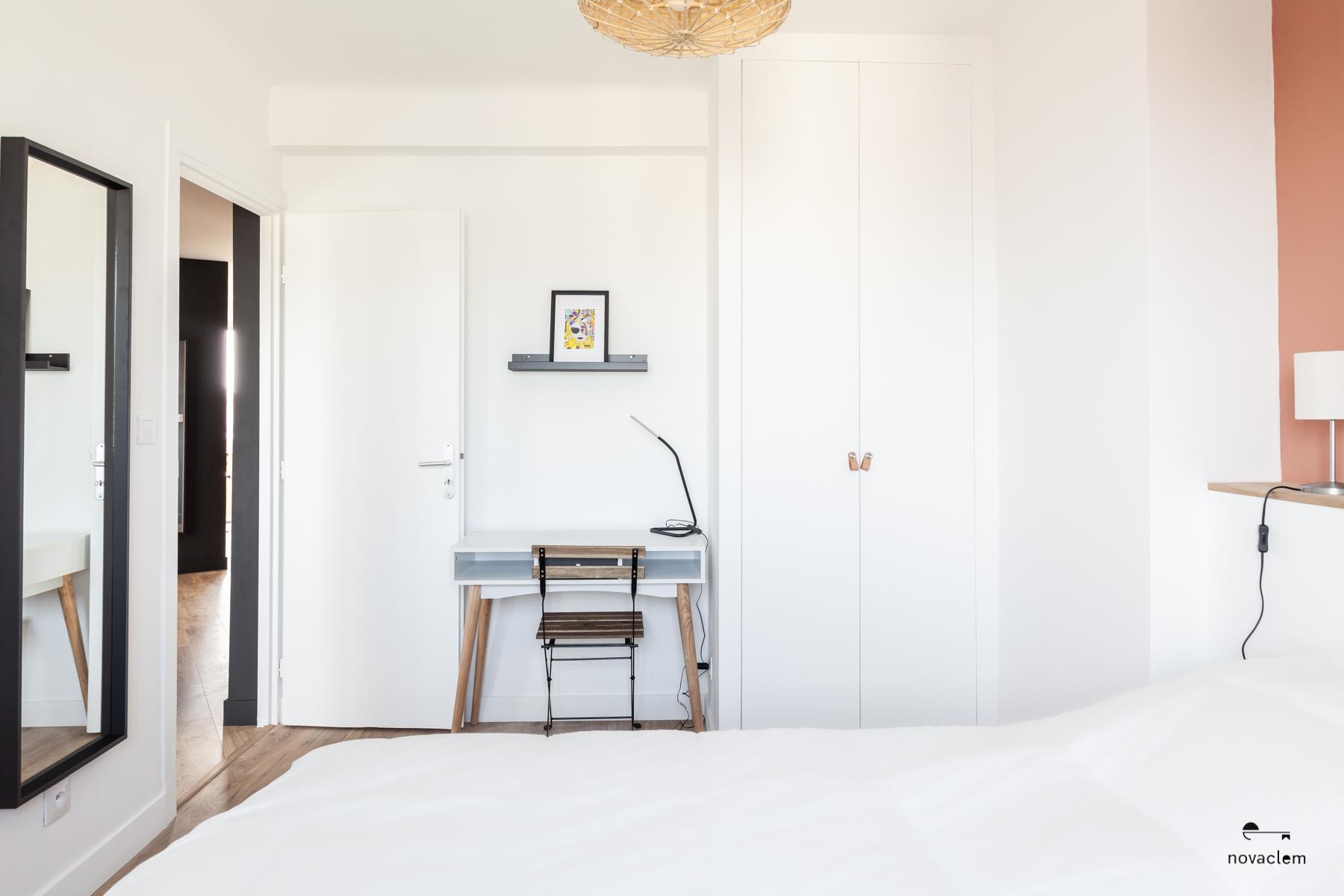 Novaclem -Chambre 2 après travaux Coloc Galinat - Investissement Marseille