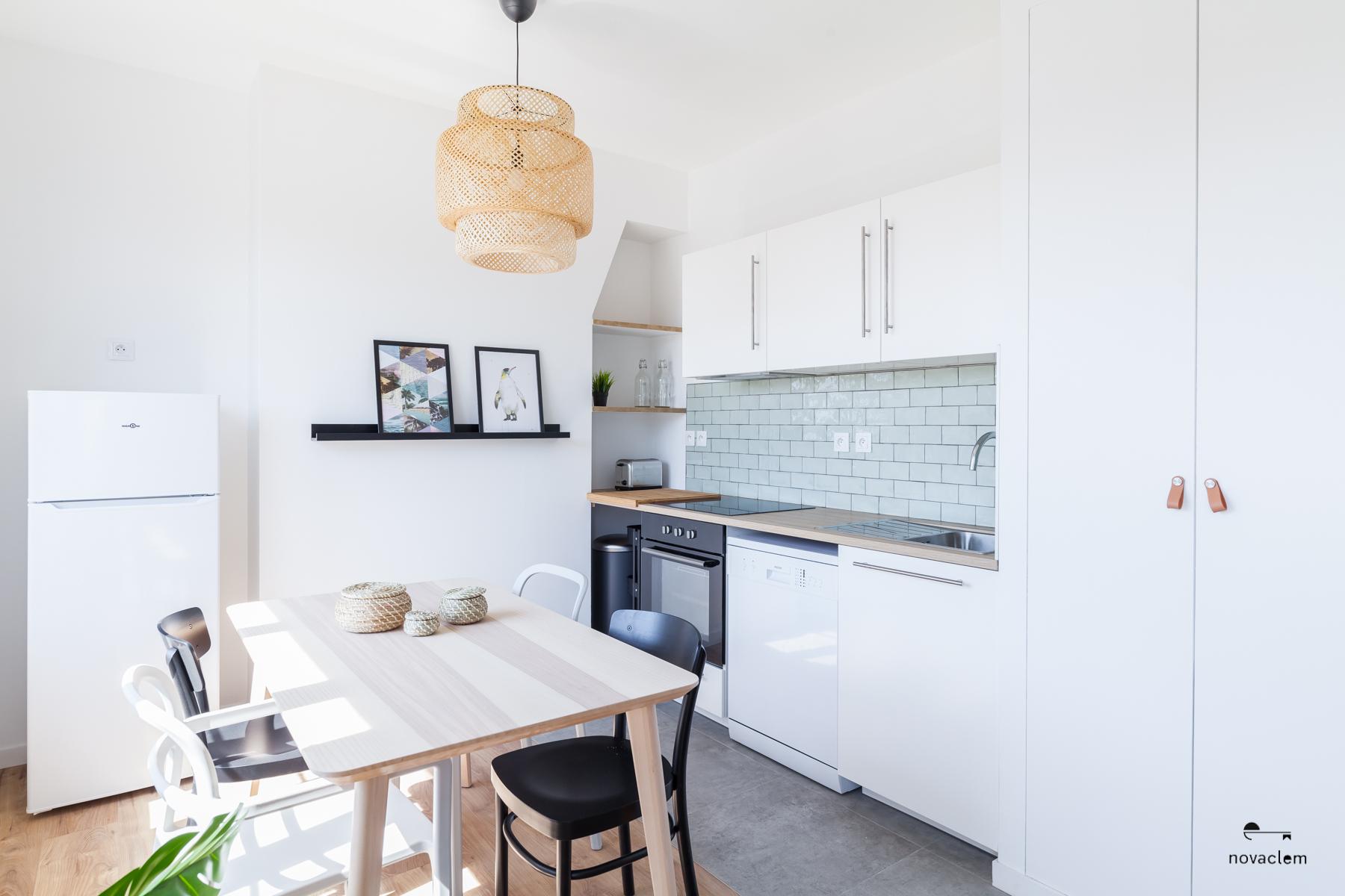 Novaclem -Cuisine après travaux Coloc Monastère - Investissement Marseille
