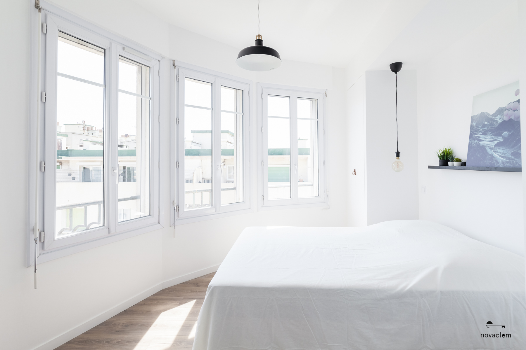 Novaclem - Chambre après travaux Coloc Monastère - Investissement Marseille