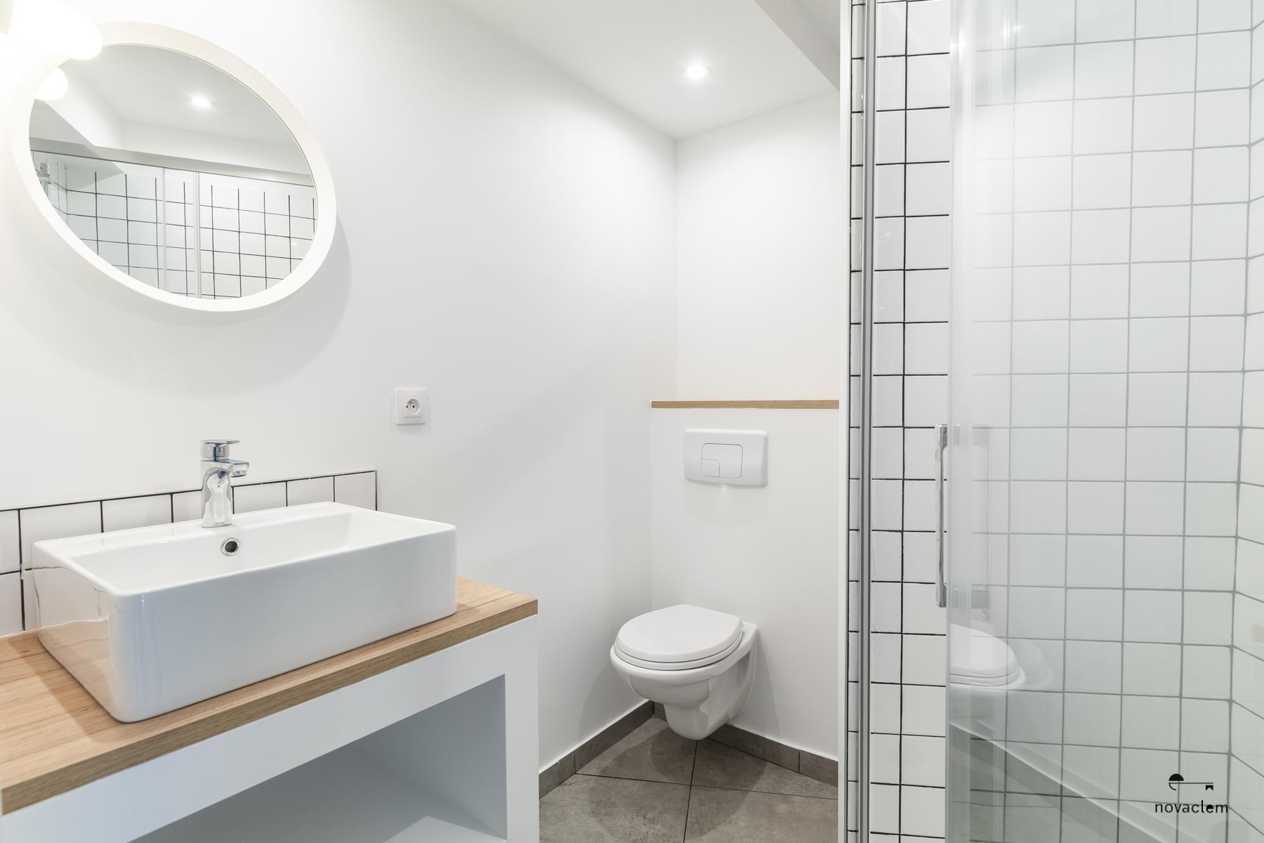 Novaclem - salle de bain après travaux Coloc Galinat - Investissement Marseille