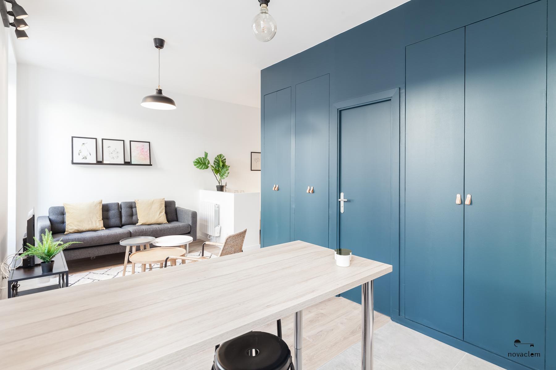 Novaclem - salon après travaux Mini loft Camas - Investissement Marseille