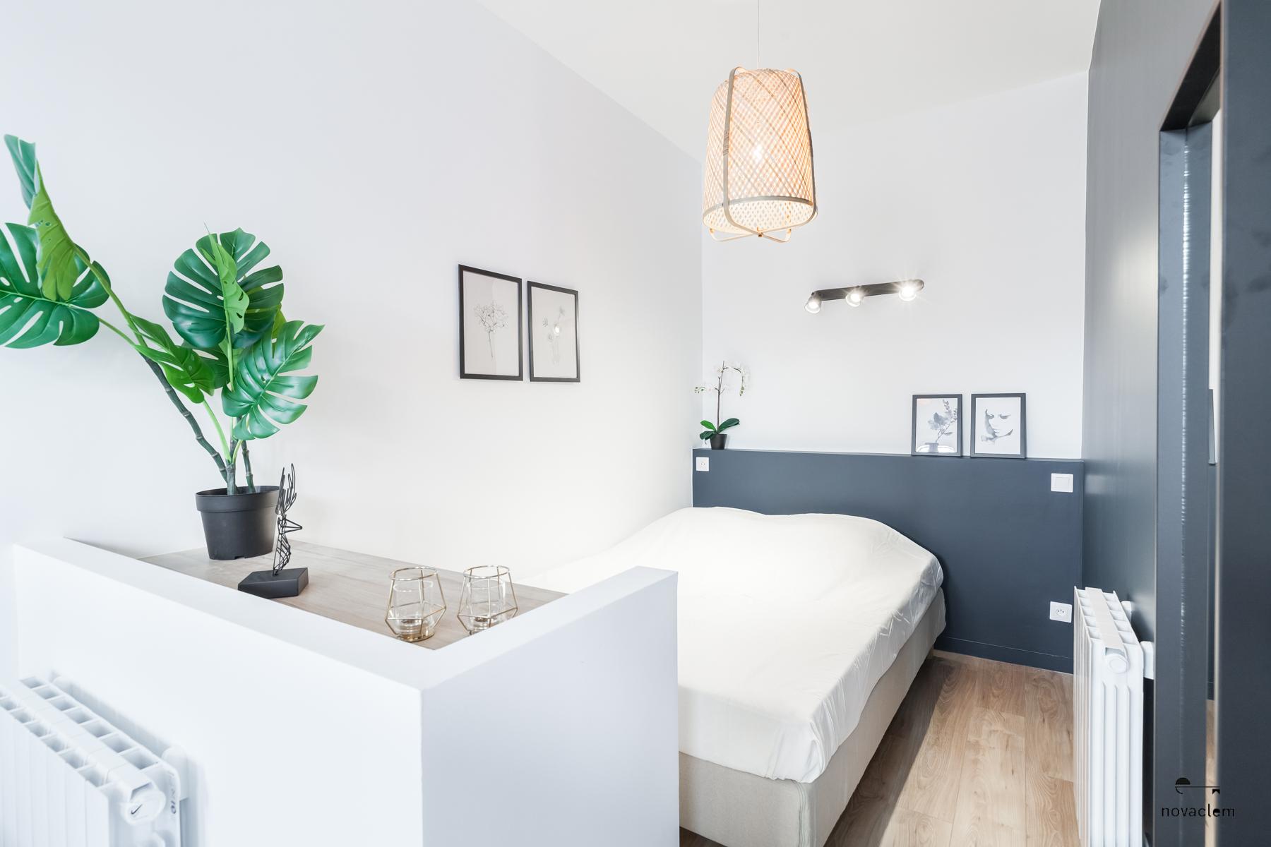 Novaclem - chambre après travaux Mini loft Camas - Investissement Marseille