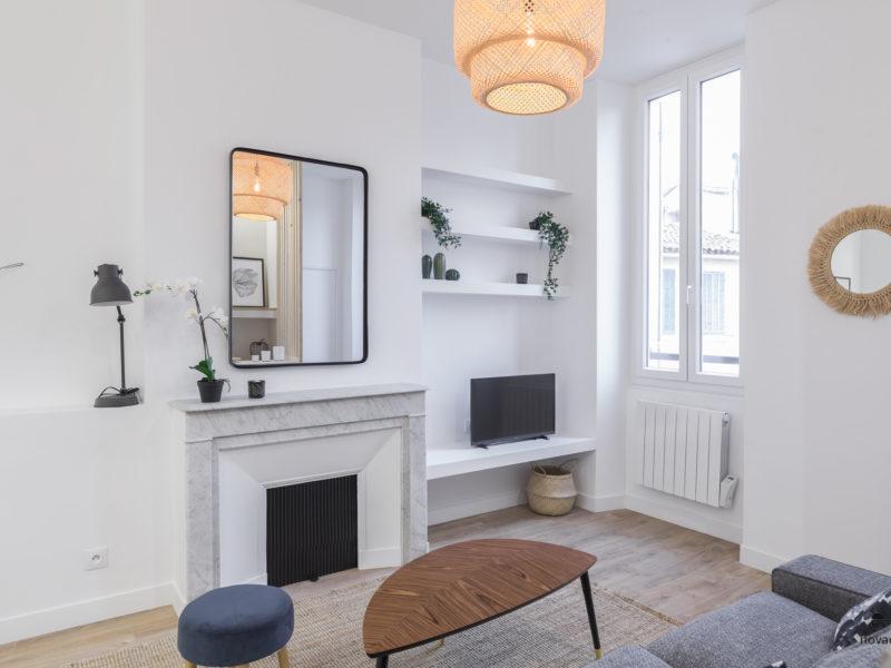Novaclem - salon 2 après travaux T2 Melchion - Investissement Marseille