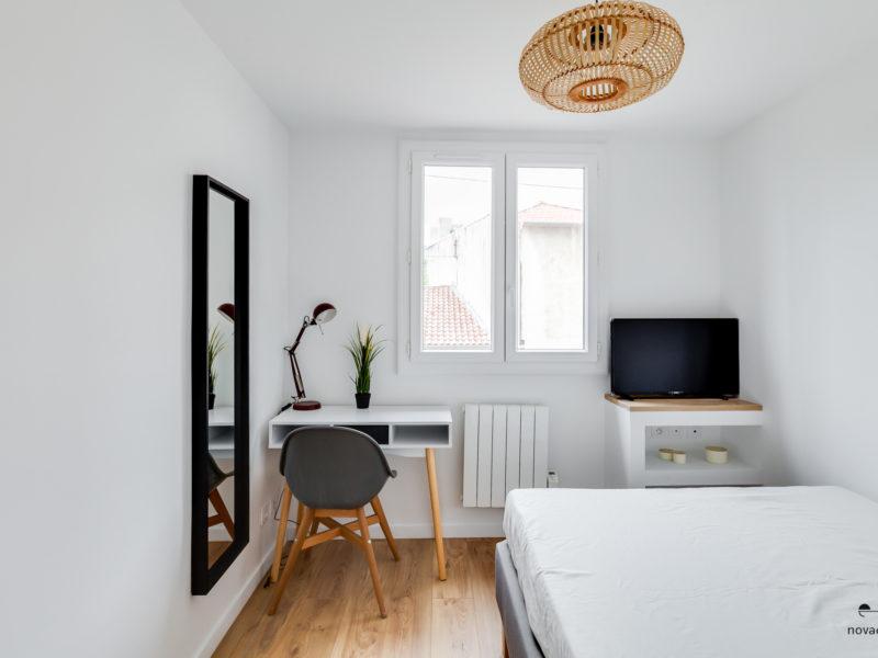 Novaclem - chambre 5 après travaux Coloc Timone - Investissement Marseille