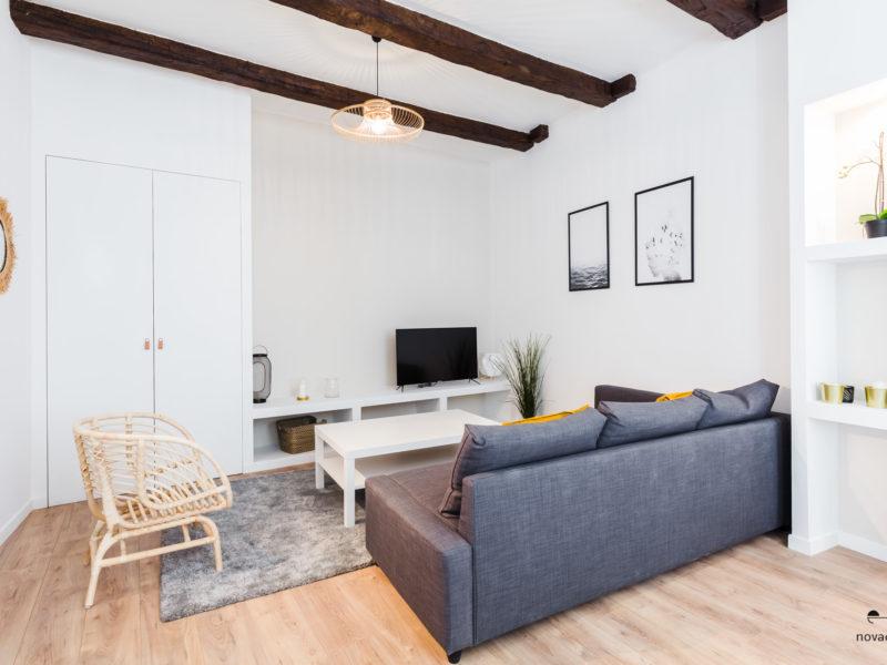 Novaclem - salon 2 après travaux Lemaitre - Investissement Marseille